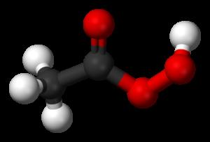 ساختار شیمیایی پراستیک اسید