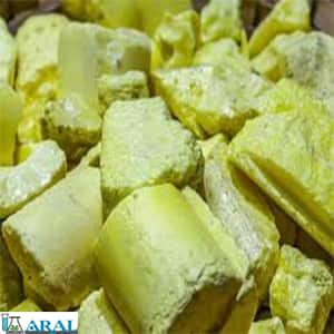 گوگرد به عنوان یک عنصر خالص به شکل پودر زرد و به صورت کریستال ظاهر می شود