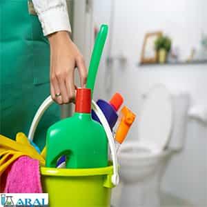 برای بهداشت هتل ها حمام ها را با تمیز کننده کاسه توالت بدون کلر تمیز نگه دارید